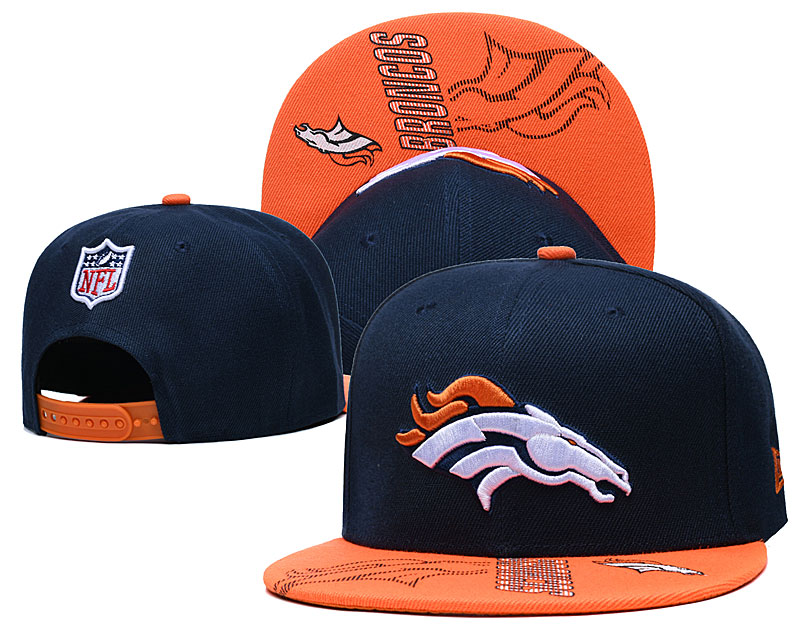 Broncos Team Logo Navy Orange Adjustable Hat GS
