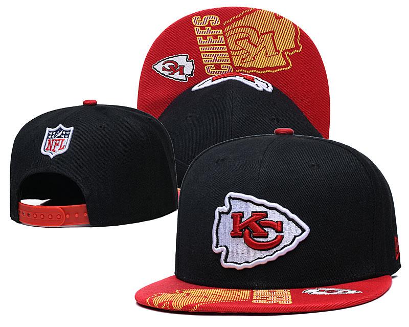 Chiefs Team Logo Black Adjustable Hat GS