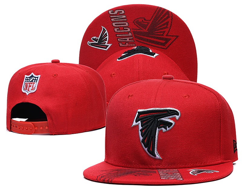 Falcons Team Logo Red Adjustable Hat GS