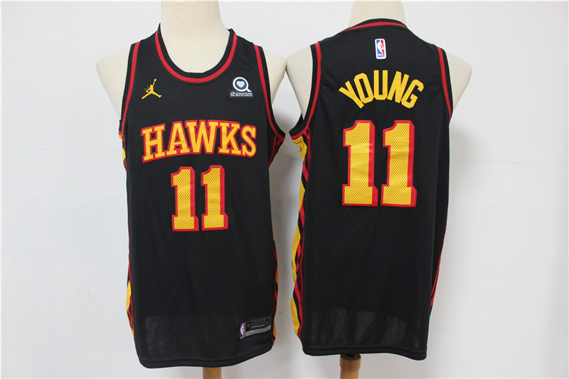 Hawks 11 Trae Young Black 2020 Swingman Jersey