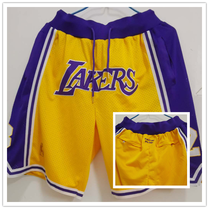 Lakers Yellow Just Don With Pocket Swingman Shorts
