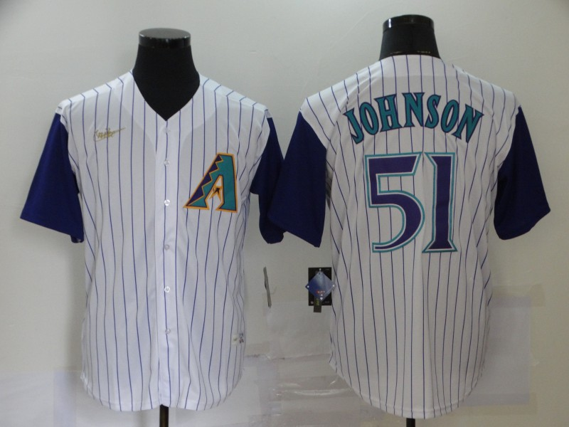 Diamondbacks 51 Randy Johnson White Nike 2020 Cool Base Jersey