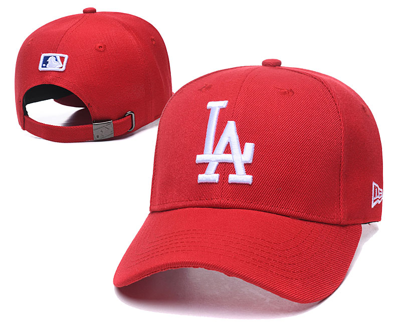 Dodgers Team Logo Red Peaked Adjustable Hat TX