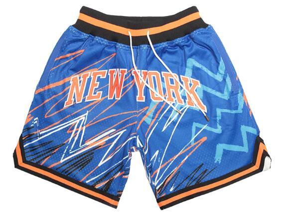 Knicks Blue With Pocket Swingman Shorts