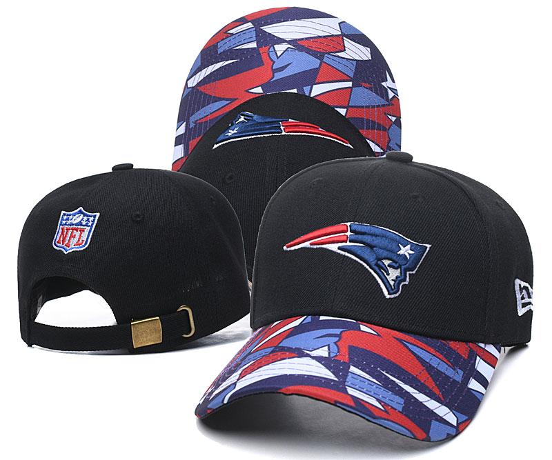 Patriots Team Logo Black Peaked Adjustable Hat LH