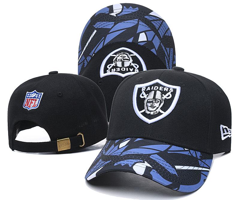 Raiders Team Logo Black Peaked Adjustable Hat LH