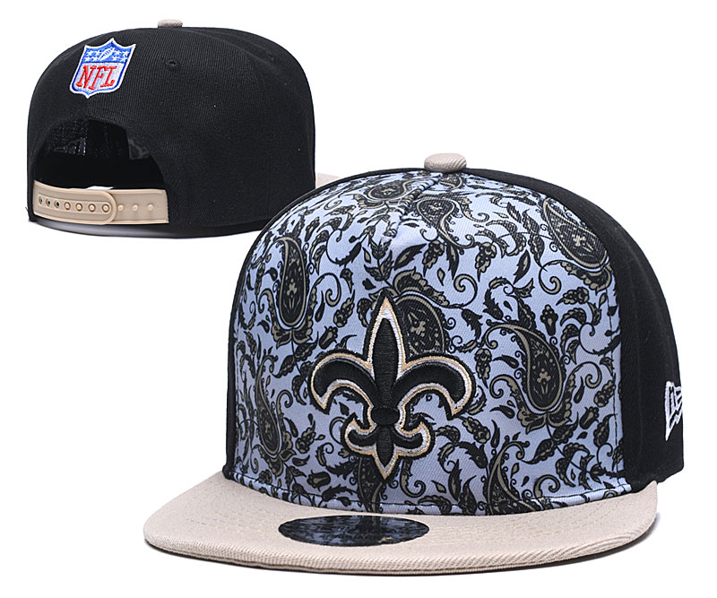 Saints Team Logo Black Cream Fashion Adjustable Hat LH