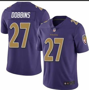 Nike Ravens 27 J.K. Dobbins Purple Youth Vapor Untouchable Limited Jersey