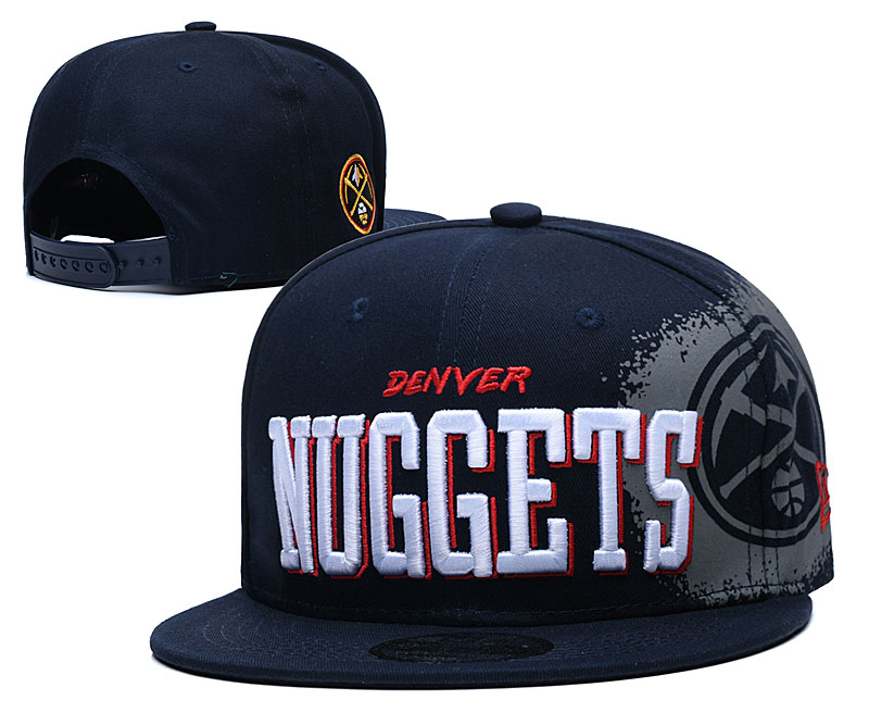 Nuggets Team Logo Black Adjustable Hat YD