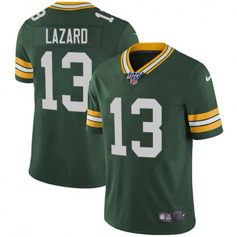 Nike Packers 13 Allen Lazard Green 100th Season Vapor Untouchable Limited Jersey