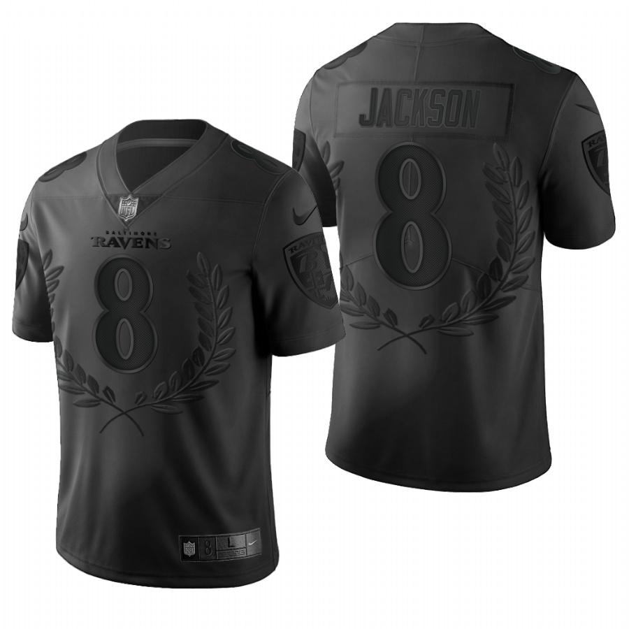 Nike Ravens 8 Lamar Jackson Black Commemorative Edition Vapor Untouchable Limited Jersey