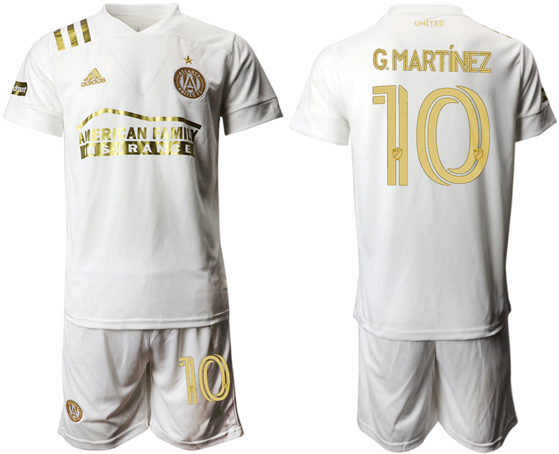 2020-21 Atlanta United FC 10 G.MARTINEZ Away Soccer Jersey