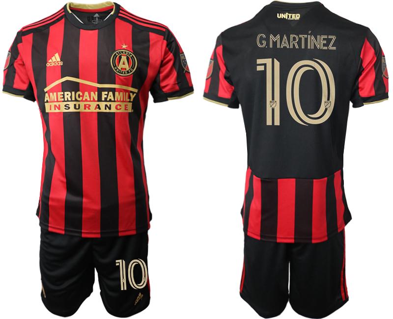 2020-21 Atlanta United FC 10 G.MARTINEZ Home Soccer Jersey