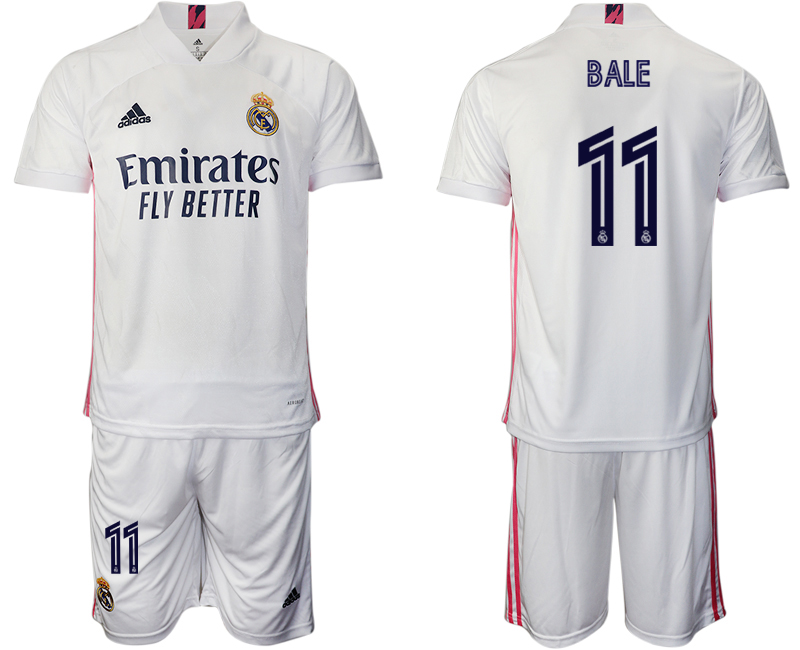 2020-21 Real Madrid 11 BALE Home Soccer Jersey