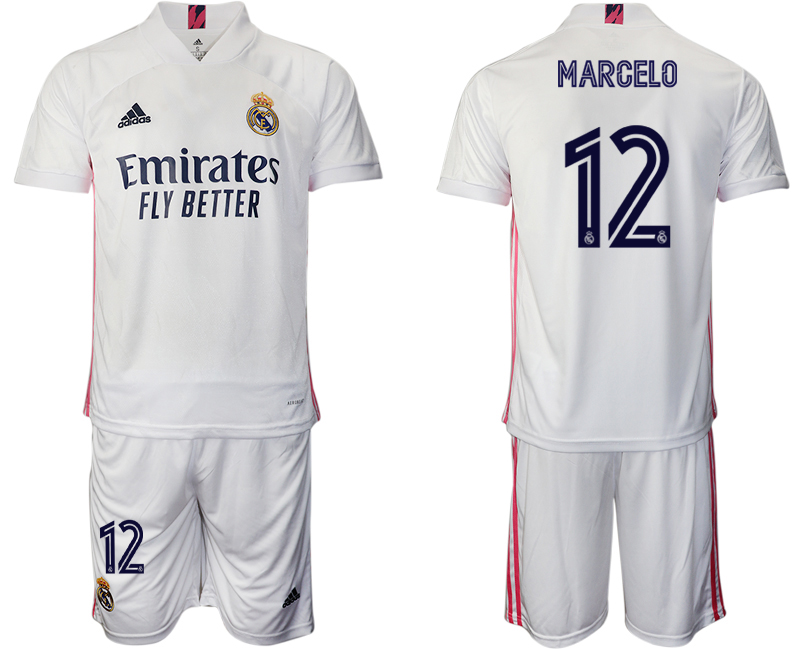 2020-21 Real Madrid 12 MARCELO Home Soccer Jersey