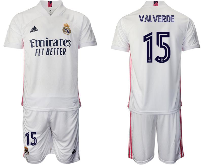 2020-21 Real Madrid 15 VALVERDE Home Soccer Jersey