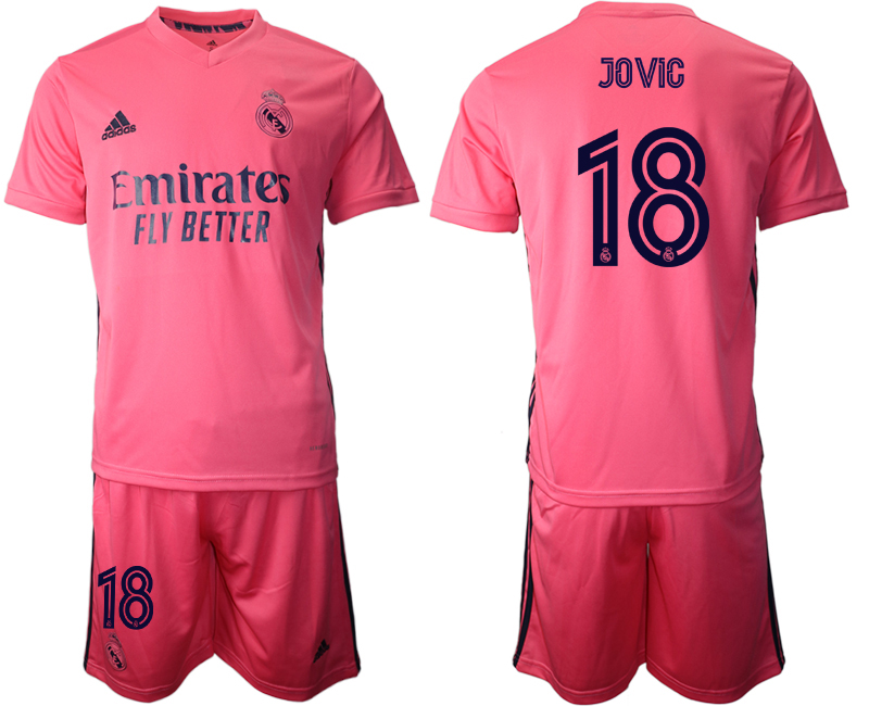 2020-21 Real Madrid 18 JOVIC Away Soccer Jersey