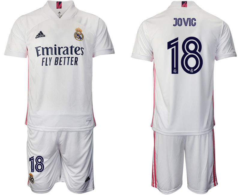 2020-21 Real Madrid 18 JOVIC Home Soccer Jersey