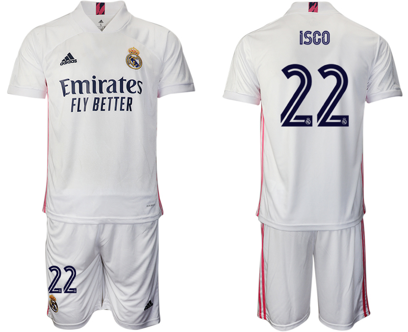 2020-21 Real Madrid 22 ISCO Home Soccer Jersey