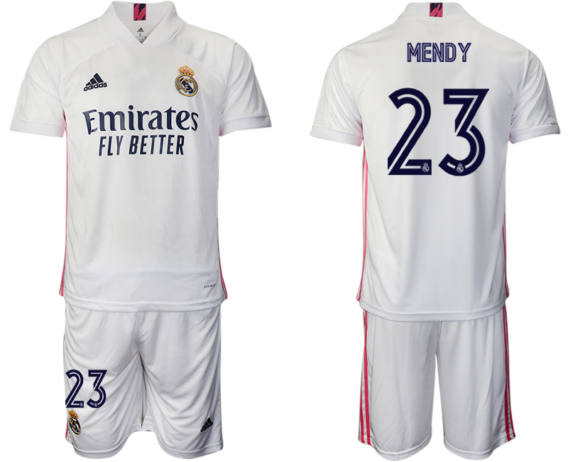 2020-21 Real Madrid 23 MENDY Home Soccer Jersey