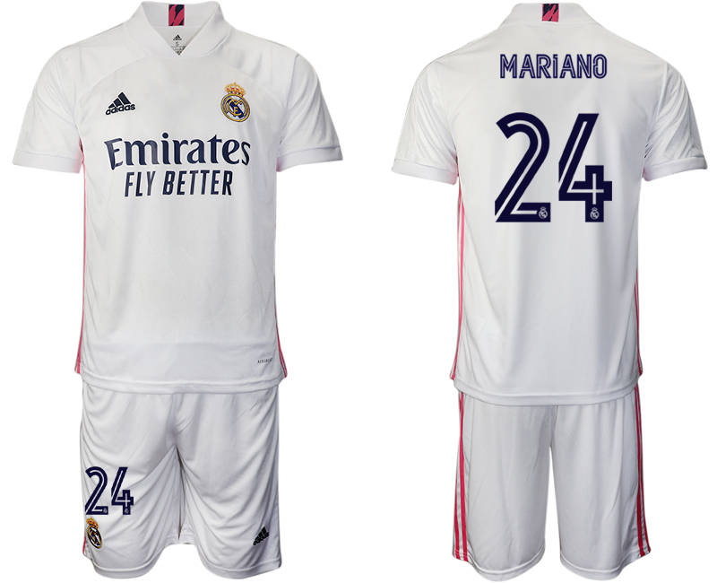 2020-21 Real Madrid 24 MARIANO Home Soccer Jersey