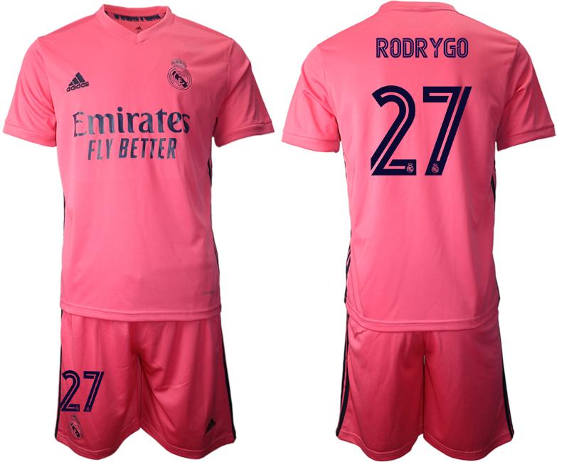 2020-21 Real Madrid 27 RODRYGO Away Soccer Jersey