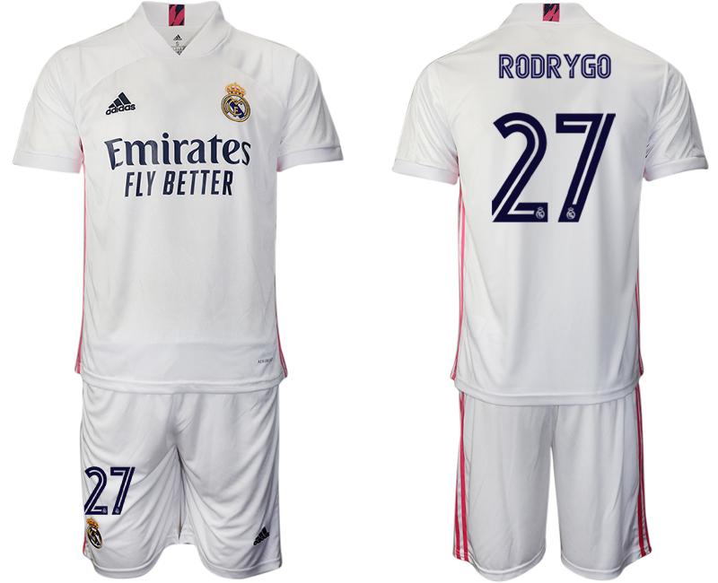 2020-21 Real Madrid 27 RODRYGO Home Soccer Jersey