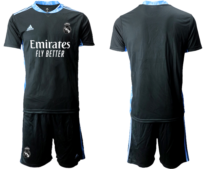 2020-21 Real Madrid Black Goalkeeper Soccer Jersey