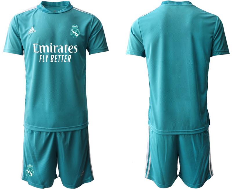 2020-21 Real Madrid Blue Goalkeeper Soccer Jersey