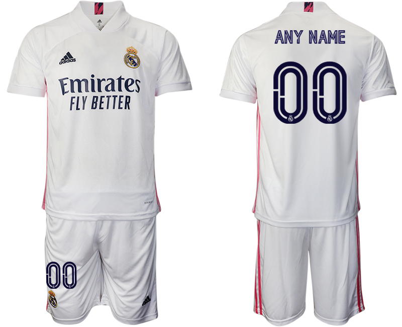 2020-21 Real Madrid Customized Home Soccer Jersey