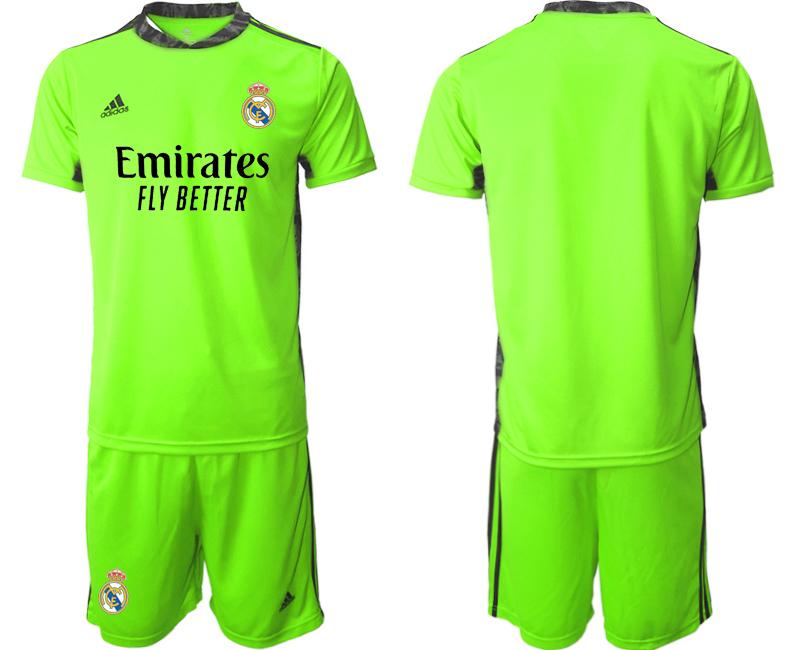2020-21 Real Madrid Fluorescent Green Goalkeeper Soccer Jersey