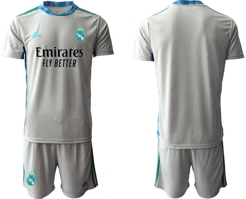 2020-21 Real Madrid Gray Goalkeeper Soccer Jersey
