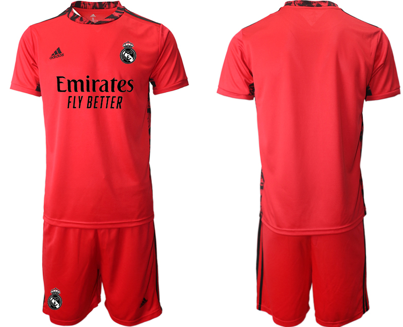 2020-21 Real Madrid Red Goalkeeper Soccer Jersey