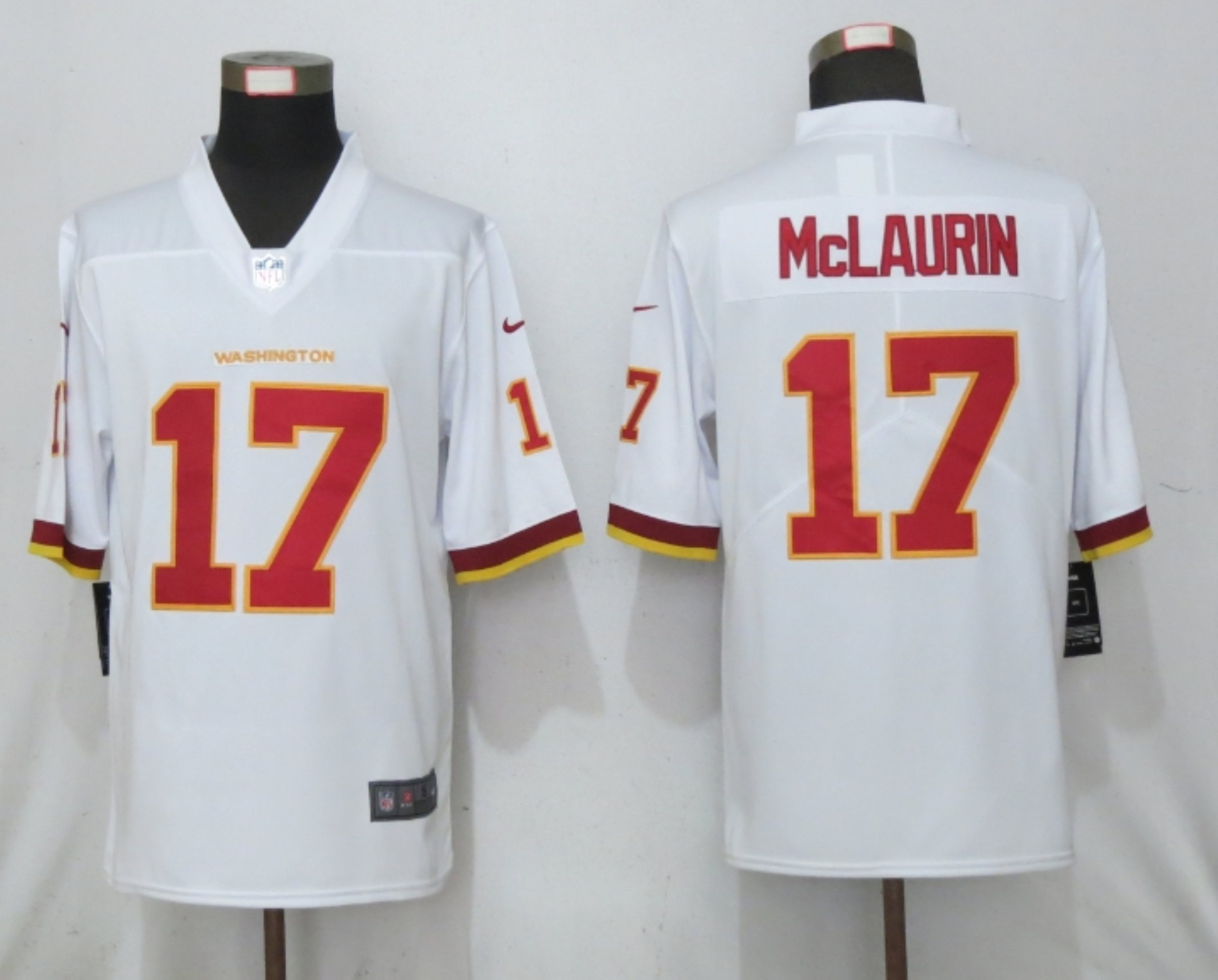 Nike Washington Football Team 17 Terry McLaurin White Vapor Untouchable Limited Jersey