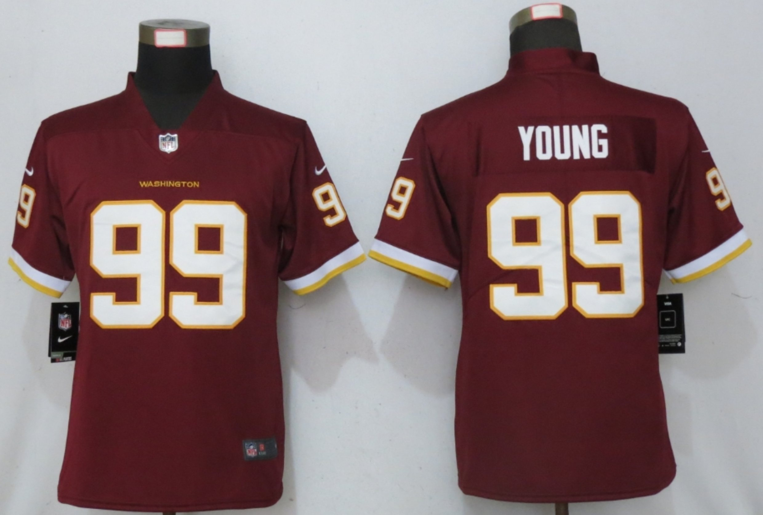 Nike Washington Football Team 99 Chase Young Red Women Vapor Untouchable Limited Jersey