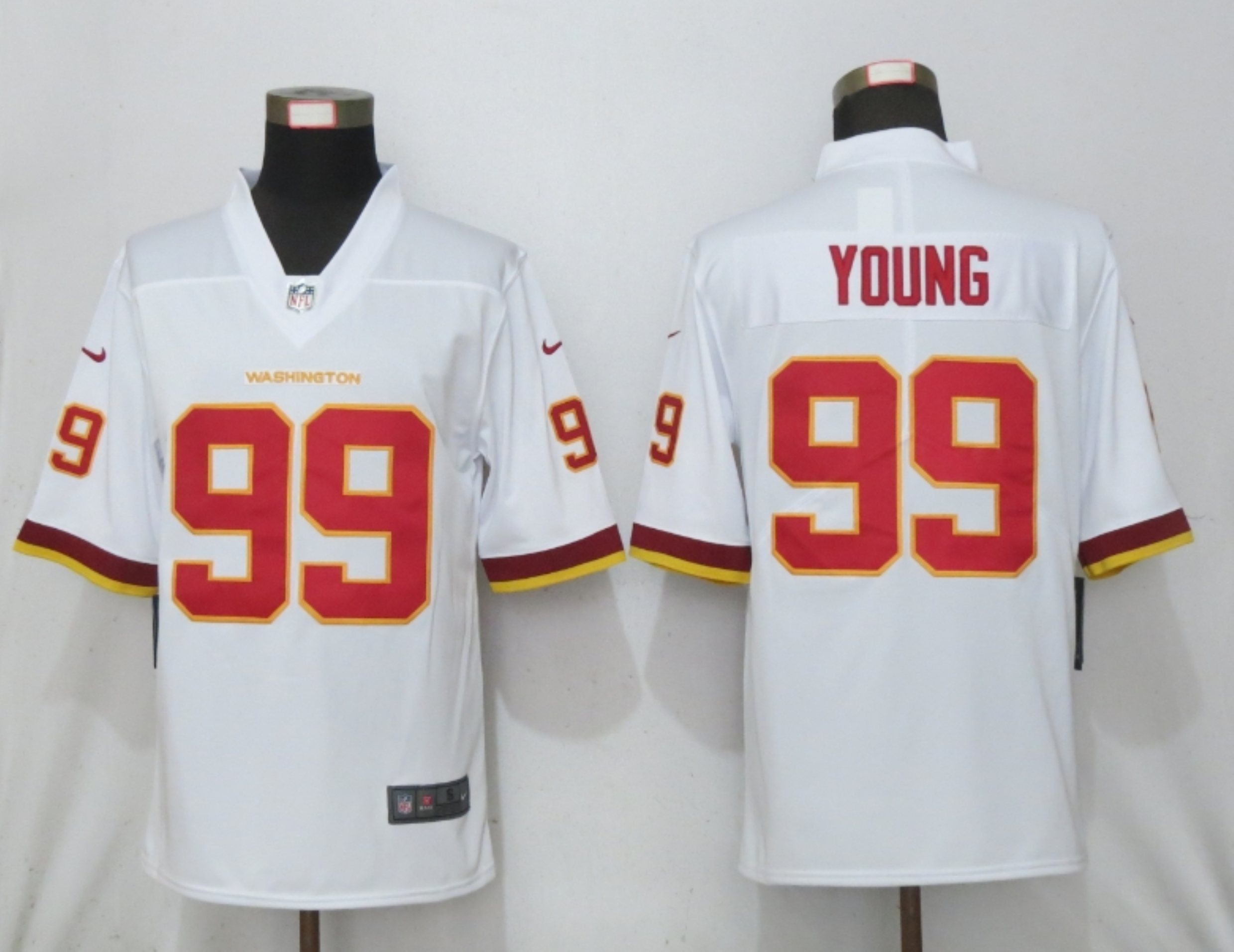 Nike Washington Football Team 99 Chase Young White Vapor Untouchable Limited Jersey