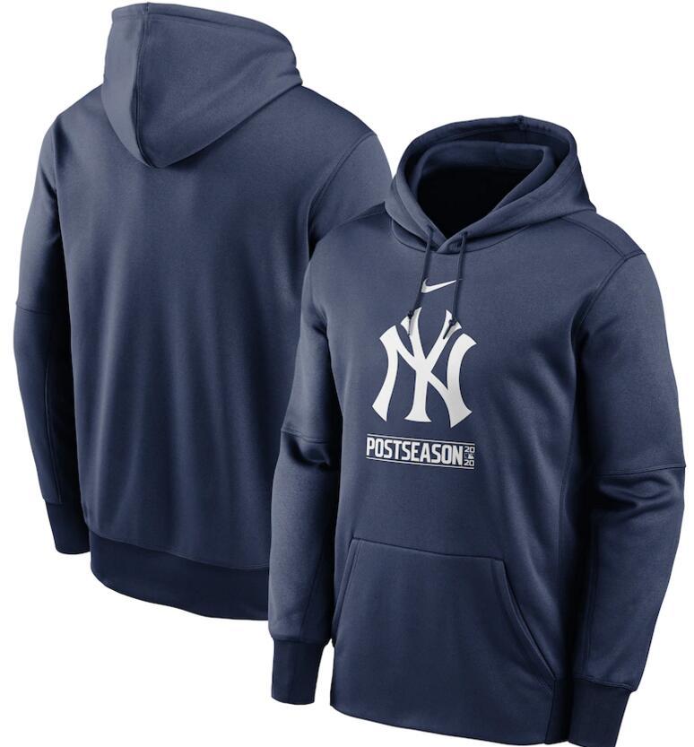 Men's New York Yankees Nike Navy 2020 Postseason Collection Pullover Hoodie