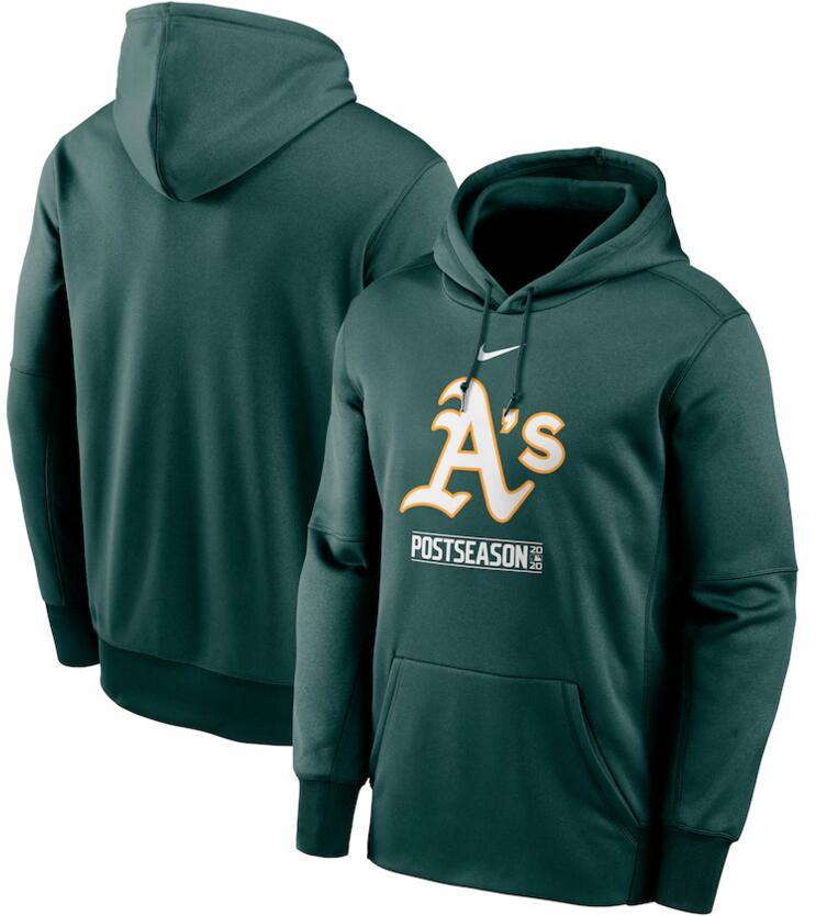 Men's Oakland Athletics Nike Green 2020 Postseason Collection Pullover Hoodie