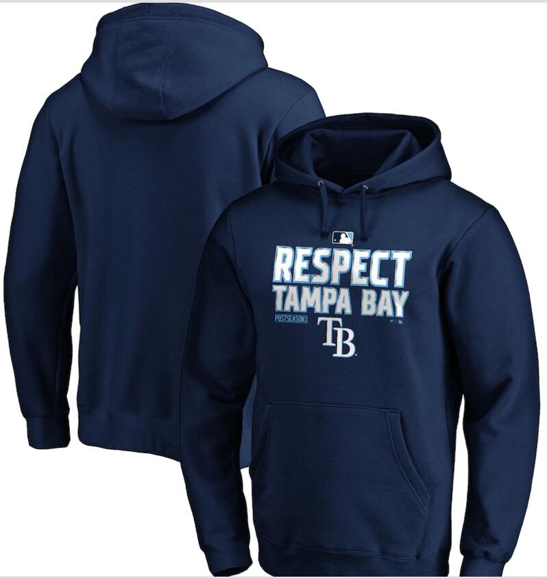 Men's Tampa Bay Rays Navy 2020 Postseason Collection Pullover Hoodie