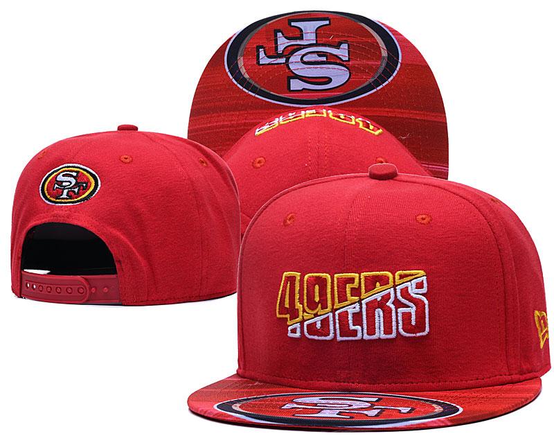 49ers Team Logo Red 2020 NFL Summer Sideline Adjustable Hat YD
