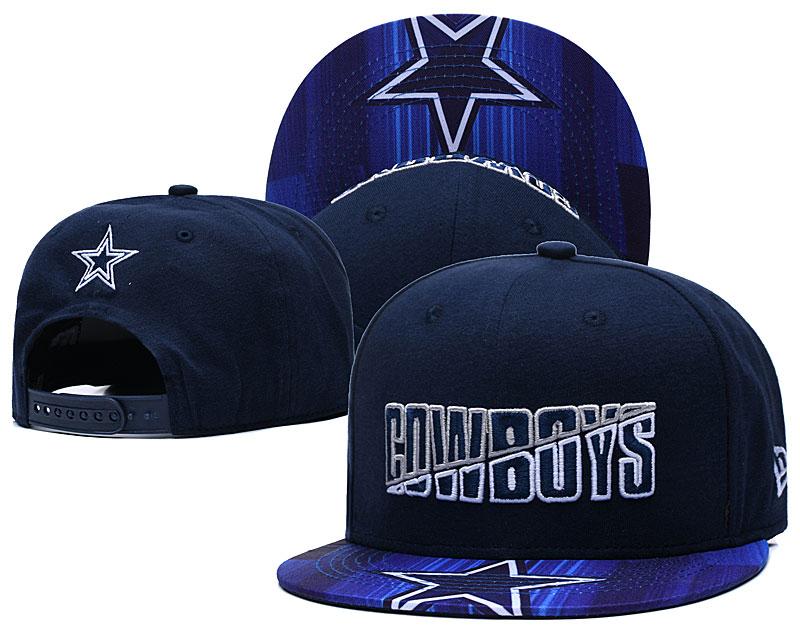 Cowboys Team Logo Navy 2020 NFL Summer Sideline Adjustable Hat YD