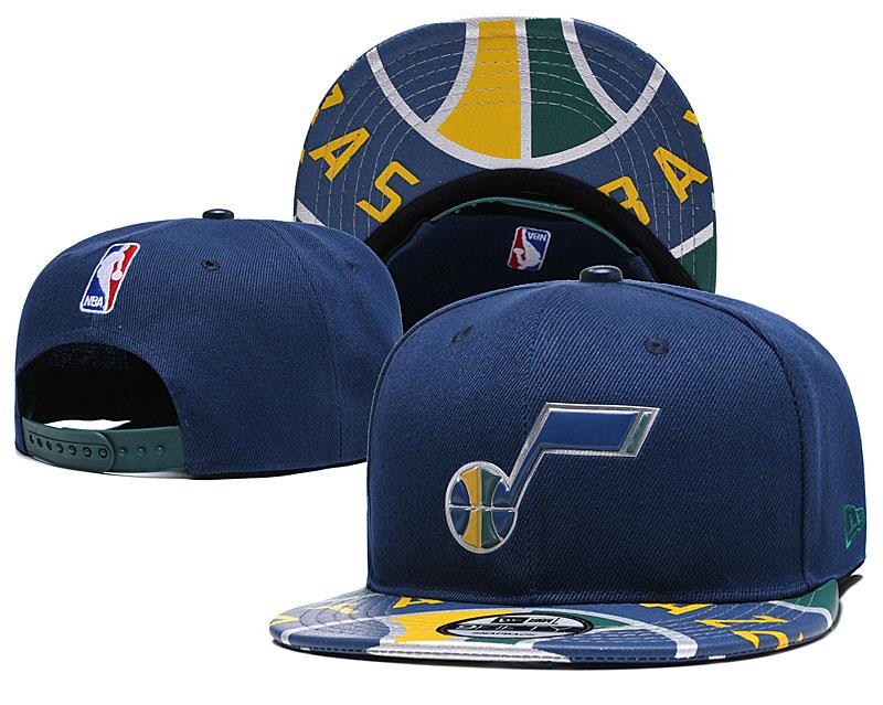 Jazz Team Logo Navy Adjustable Hat YD