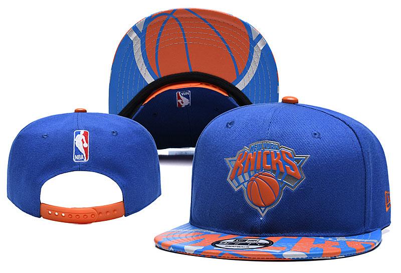 Knicks Team Logo Blue Adjustable Hat YD