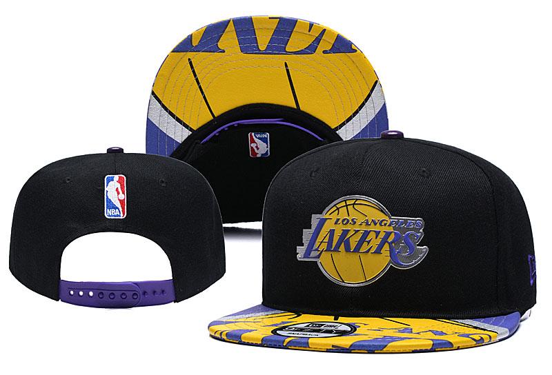Lakers Team Logo Black Adjustable Hat YD