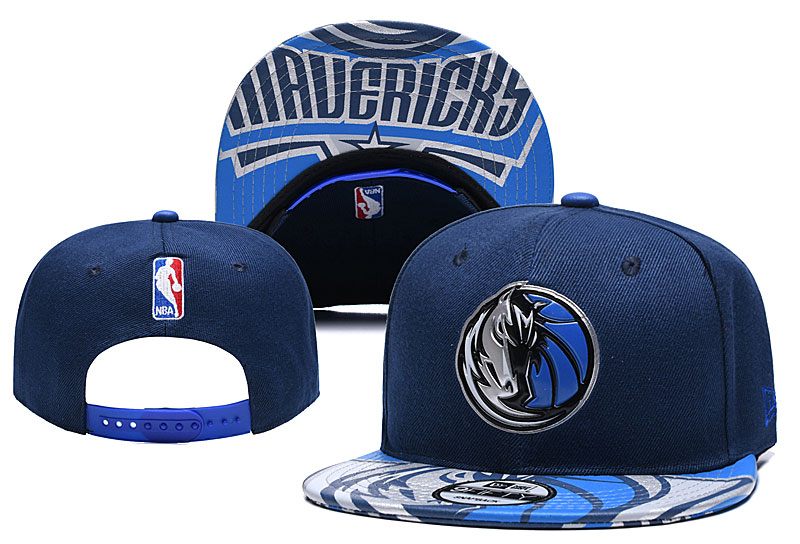 Mavericks Team Logo Navy Adjustable Hat YD