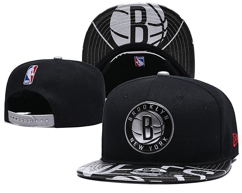 Nets Team Logo Black Adjustable Hat YD