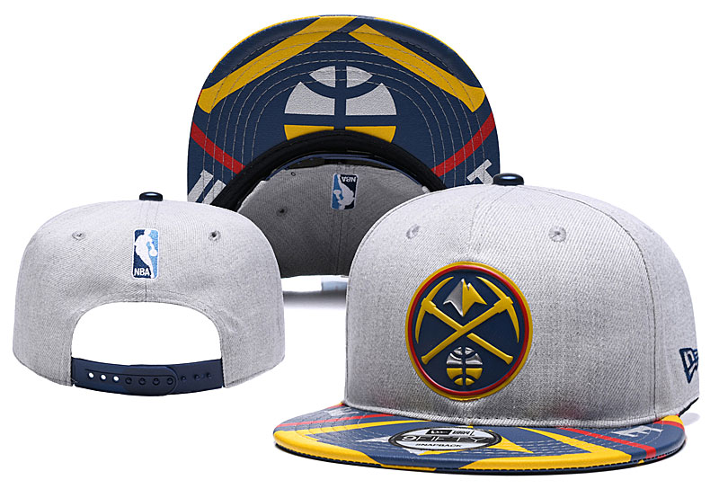 Nuggets Team Logo Gray Adjustable Hat YD