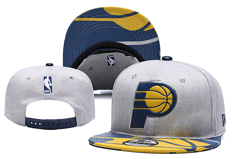 Pacers Team Logo Gray Adjustable Hat YD