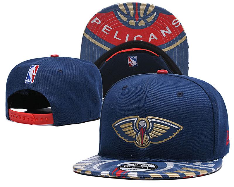 Pelicans Team Logo Navy Adjustable Hat YD