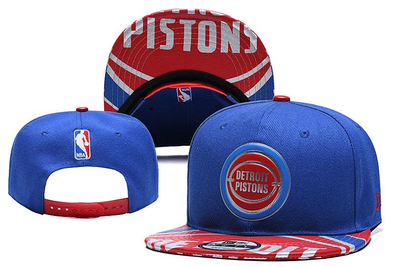 Pistons Team Logo Blue Adjustable Hat YD
